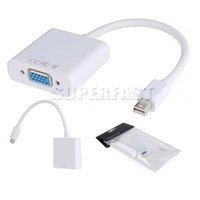 cabos de porta mini display venda por atacado-DP para VGA Display Port Macho para VGA Fêmea Mini Audio Converter Adapter Cabo Para MacBook Air Pro MDP Laptop com Pacote OPP