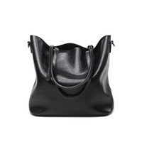 Wholesale Leather Bucket Bags Women - Geuine Leather Handbag New Bucket Female Bag Europe and The United States Contracted Bag Shoulder Inclined Shoulder Handbag