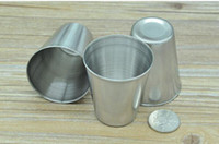 Wholesale cups whisky - Mini 2oz Stainless Steel Hip Flask Wine Cups Portable Outdoor Whisky Stoup Wine Pot Alcohol Cup