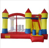 kale seti toptan satış-Yard En Iyi Kalite Şişme Kale Ile Sıçrama Ev Sıçrama Ev Çocuklar Için Şişme Oyuncaklar Engel Atlama Atlama