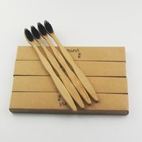 Wholesale Toothbrush Soft Wholesale - Black 100% Bamboo Toothbrush Wood toothbrush Novelty Bamboo soft-bristle Capitellum Bamboo Fibre Wooden Handle original