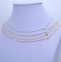 Wholesale Single Rhinestone Necklace - 2017 Trendy rhinestone chain single zircon 925 sterling silver necklace women fashion accessories silver jewelry wedding chokers