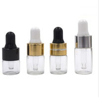 kleine glasflaschen großhandel-1 ml 2 ml 3 ml Amber Dropper Mini Glasflasche Ätherisches Öl Anzeigenfläschchen Kleines Serum Parfüm Braun Probenbehälter