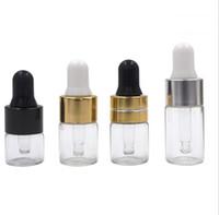 bouteilles d'huile de parfum achat en gros de-1ml 2ml 3ml Ambre Dropper Mini bouteille en verre Huile essentielle Vial Vial Small Serum Perfume Brown Sample container
