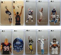 Wholesale Iphone 4s Cases Football - Clear TPU Case for iphone 7 6 6s plus 5 5s 5C 4S American Football Odell beckham jr Gronk Cam Newton BACK Cover