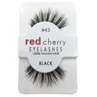 Wholesale Wholesale Wings Human Hair - 2017 New RED CHERRY False Eyelashes Natural Long Eye Lashes Extension Makeup Professional Faux Eyelash Winged Fake Lashes Wispies