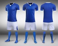 Wholesale Jogging Wear Wholesale - TOP Team blank custom soccer jerseys Sets,2018 NEW Customized MENS Gym Jogging Training Running Soccer Wears Short sleeve Tops With Shorts