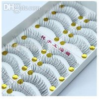 Wholesale Taiwan Dresses - Wholesale-10 pairs of dress Free shipping Hot 218 transparent stems eyelashes Taiwan pure hand cross section false eyelashes