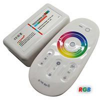 rf controller für led rgb großhandel-DC12-24A 18A RGB RGBW führte Touch Screen Rf-Fernbedienung des Prüfers 2.4G für geführten Streifen / Birne / downlight