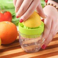 Wholesale Wholesale Fruit Press - Juicer Squeezer Mini Manual Juicer Lemon Squeezer Double Layer Press Fruit Extracting Device Kitchen Gadget Cup OOA2214