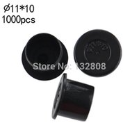 Wholesale Tattoo Ink Cap Sizes - Wholesale-11MM tattoo inkcups Caps 1000pcs Plastic Tattoo Pigment Ink Cup Self-standing Large Size black Cup Supply tattoo Free Shipping