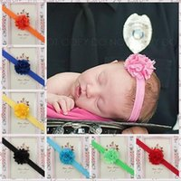 Wholesale Satin Tulle Flower Headband - Cheap sale Baby Girls Lace Flower Headbands Hairband Satin Tulle Flower Headbands Bows Kids Children Infants Hair accessories KHA153