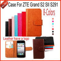 Wholesale Sii Cover - AiLiShi For ZTE Grand S2 SII S291 Case Luxury PU Flip 8-Colors New Leather Case High Quality Wallet Protective Cover Skin
