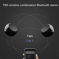 Wholesale Aluminum Phone - BM3D TWS True Wireless Bluetooth Speakers Aluminum 2Pieces Mini Portable Speaker Music Audio Player for Phone