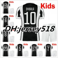 Wholesale Best Boys - best quality 17 18 Italy Club kids Soccer jersey kits 2017 2018 MARCHISIO ZAZA DYBALA HIGUAIN DANI ALVES MANDZUKIC Children Football shirt