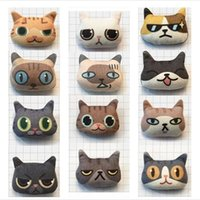 Venda Por Atacado Bonito Cute Stereoscopic Cat Broches Lapel Pins Handmade Cotton Cartoon Brooch Acessórios Pin Bag Pin para Senhoras