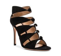 Wholesale woman sandals online - Impera Rihanna High Heels Sexy Pointed Toe Pigalle Shoes Cut Out Ankle Strap Women Pumps Lace Up Cut Outs Women Sandals