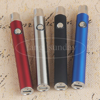 Wholesale Adjustable Batteries - eCig USB Vape eGo Adjustable Variable Voltage 350mAh Preheating with Bottom Charge 510 Thread Batteries Thick Wax Oil eVod Vaporizer Pen