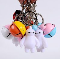 Wholesale Ceramic Blanket - Free shipping Creative Blanket White Key Chain Bell Key Ring Pendant Metal Small Gift Bag Strap KR258 Keychains mix order 20 pieces a lot