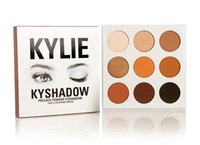 Wholesale Wholesale Powder Usa - 2016 New Kylie Eyeshadow Pressed Powder Eyeshadow Cosmetics Bronze Palette 9 Colors Popular In USA 160925