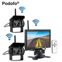 """Wholesale Truck Wireless Rear View Monitor - car Wireless Dual Backup Cameras Parking Assistance Night Vision Waterproof Rear View Camera + 7"""" Monitor for RV Truck Trailer Bus"""