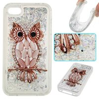 Wholesale Iphone 4s Bling Butterfly - Quicksand Star Glitter Soft TPU Gel Case For Iphone 7 6 6S Plus 5 5S SE 5C 4 4S Ipod Touch 5 6 6th Bling Liquid Skull Owl Butterfly Cover