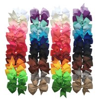 Wholesale Ponytail Holders For Bows - Infant Hair Bows 48pcs Ribbon Boutique Bows alligator clips Ponytail Holder For Kids Teens Babies Children Kids Hair Accessories