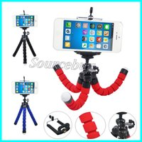 Wholesale universal tripod adapter for sale - Group buy Universal Stretch Adjustable Cell Phone Tripod Octopus Holder Stand with Clip Mount Adapter Rotation for iPhone Smartphone Camera Tablet