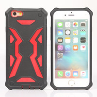 Wholesale Cell Phone Hard Cases Cheap - For iPhone 8 Plus X 7 6S Cheap PC TPU Dual Layer Hard Stylish Hybrid Defender Armor Cell Phone Case Casing Opp Bag