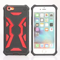 Para o iPhone 8 Plus X 7 6S barato PC TPU Dual Layer Hard Stylish Hybrid Defender Armor Cell Phone Case Casing Opp Bag