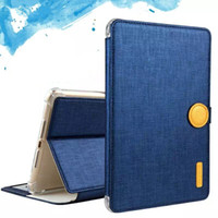 Wholesale Magnet Case Ipad Air - MY Colors Magnet Clasp Flip Cover With Kickstand PU Leather Case Card Holder For iPAD Air 2 iPAD 5 6 OPP BAG