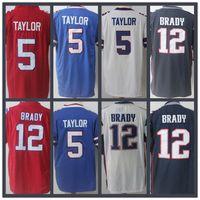 Wholesale England Patriots - Man New England Jersey Patriot 12 Tom Brady Bill 5 Tyrod Taylor Superstar jerseys high quantity free shipping 100% Stitched