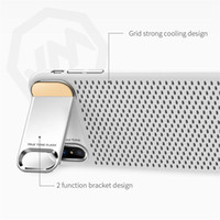 Wholesale Iphone Metal Mesh Case - 20pcs new JOYROOM For Iphone X Case Electroplating Mesh Heat Radiaing Hard PC Back Cover ,with Metal Kickstand Cell Phone Case, For Iphone X