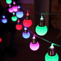 Wholesale Cheap Christmas Garlands - Wholesale- Cheap 5M 20 LED bulb spherical multicolor string lights christmas wedding garden pendant garland party pisca de decoracao
