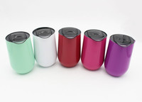 Wholesale cups art - 16oz Wine Glasses Stainless Steel Vacuum Insulated cups Tumbler oz Outdoors Travel mugs Wine cups with lids