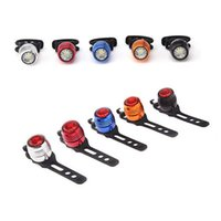 Wholesale Night Ride Bike Light - wholesale-4pc lot 4 Modes waterproof Bike Taillight Warning Light Rear Light Flash Mode Night Ride Bicycle USB 4 colors with Taillight Cover