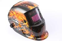 auto capacete de soldagem a arco venda por atacado-Novo criativo CHAMA SKULL Pro Solar Auto Escurecimento Welding Helmet Arc Tig Mig Máscara Grinding Welder Máscara MULTIFUNCIONAL