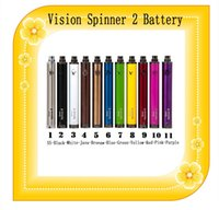 Wholesale Protank Mini Ii Free Shipping - Vision Spin 2 Battery 1650mah Variable Voltage 3.3~4.8V Vision Spiner II for Mini Protank 3 free shipping