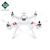 mini helicóptero sin escobillas al por mayor-BAYANGTOYS Drone GPS sin escobillas Motor RC Quadcopter RTF 2.4GHz 4CH 6Axis Retorno automático 360 Degree Flip Mini Drones RC Helicóptero + NB
