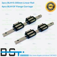 Wholesale 2pcs mm BLH15 L mm Linear guide way BLH15F Flange Linear Motion Carriage