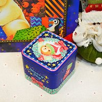 Wholesale Wholesale Tea Coffee Tins - New 6pcs lot 75x75x65mm Metal Storage Jar Sculpture Art Christmas Style Tin Box Sundry Storage Box Tin for Tea Caddy Coffee Cookies Coin