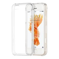 Wholesale I5 5s Phone Cover - For iPhone 5 5S SE i5 Hard Crystal Clear Phone Back Case Transparent 2 in 1 Plastic for iPhone5 iPhone5S Cover