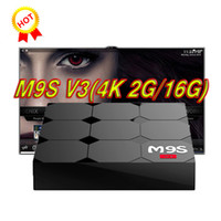 2017 más barato de 2GB RAM M9S V3 16GB androide-tv-box Android 6.0 RK3229 WiFi Bluetooth Media Player Soporte KD17.3 HDMI LAN USB más barato X92 X96