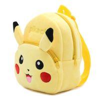 Wholesale Boys Schoolbags - Kids backpacks poke pikachu backpack for children girl boy schoolbags plush girls boys stuff dolls bag children christmas gifts