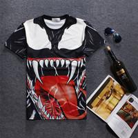Wholesale Nice Shirts Cotton - 2017 new t-shirt high quality big tongue mouth casual loose tshirt 5 size mens womens tshirt 3d print nice t-shirts