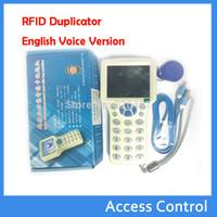 Wholesale 125 Khz Id - Wholesale- 10 Frequency RFID 125 KHz -13.56 MHz IC NFC  ID Card RFID Copier Reader& Writer Programmer RFID Duplicator English Voice Versi