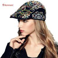 6239851dd18 Wholesale kenmont hats online - Kenmont Brand Spring Autumn Women Newsboy  Cap Ivy Peak Driving Sun