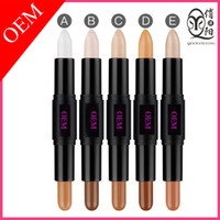 Wholesale Dark Shadows Makeup - OEM Concealer stick for makeup base foundation Grooming rods face high light pen face makeup shadow