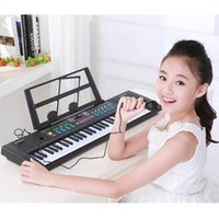 Wholesale Kids Piano Microphone - 61 keys children's puzzle enlightenment electronic piano with microphone toys good gifts for kids