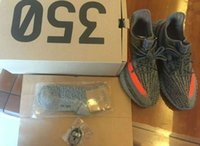 Wholesale Solar Top - DHL Free Top Factory 350 V2 BB1826 Beluga Grey Big size 36-46 Real Boost 350 Stealth Grey Beluga Solar RedWith Box Kanye West Running Shoes